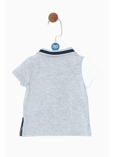 BG Baby Erkek Bebek Gri Melanj T-Shirt 19SS0BG1505 Gri
